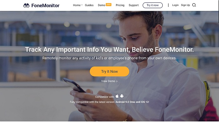 FoneMonitor home page