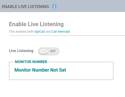 Flexispy live listening option