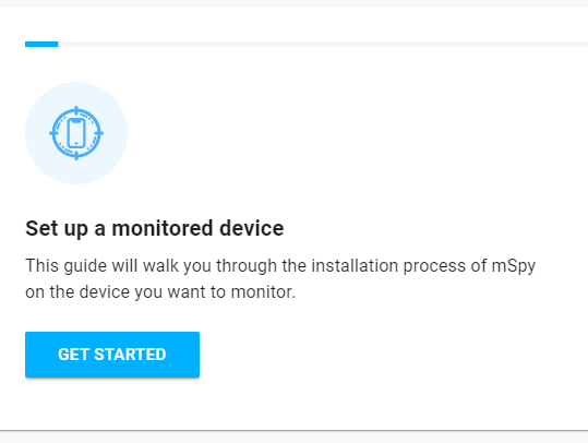 mSpy installation prompt