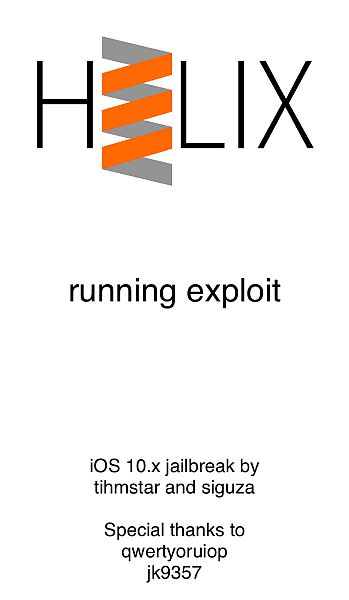 H3Lix UI In The Process Of Jailbreaking iPhone