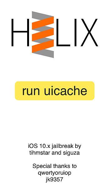 H3lix App Showing Run Uicache Button