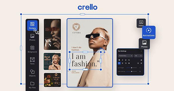Crello Photo Editor UI
