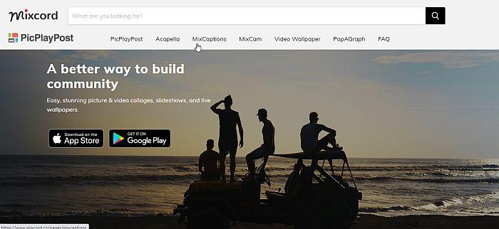 Mixcord PicPlayPost Page