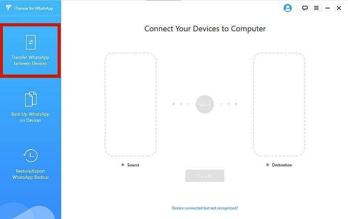iTransor App Dashboard