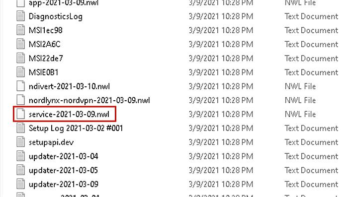 diagnostics service files