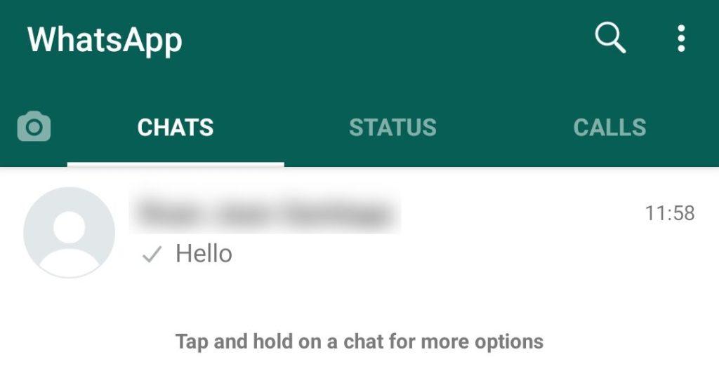 WhatsApp Open Conversation