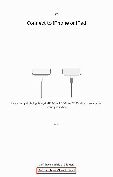 Samsung Smart Switch Connect To iPhone or iPad Screen