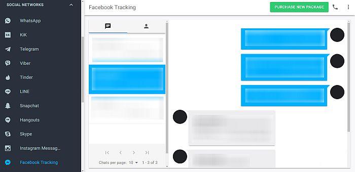Mspy Facebook Tracking Panel