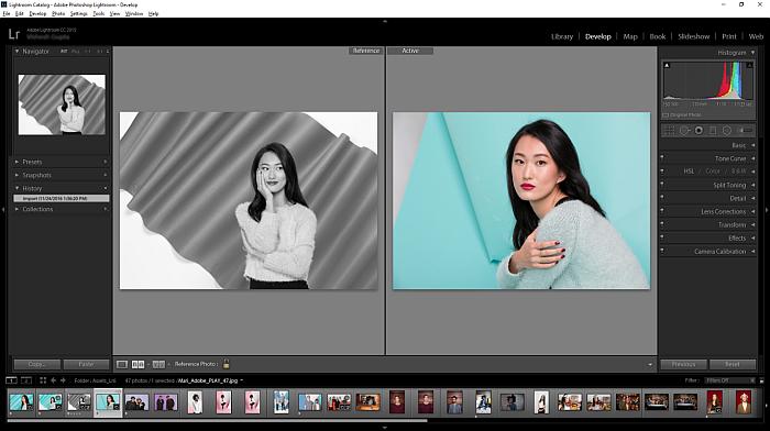 Adobe Lightroom UI