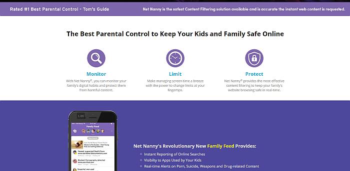 Net Nanny Homepage