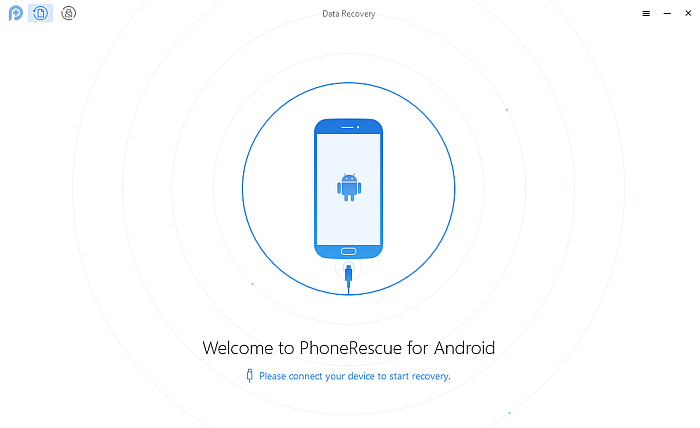 Phone Rescue Welcome Screen