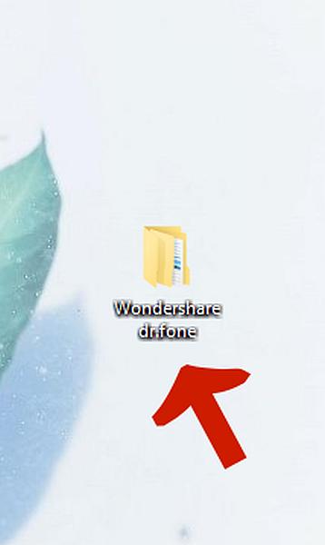 Desktop Screen Displaying Wondershare dr.fone Folder