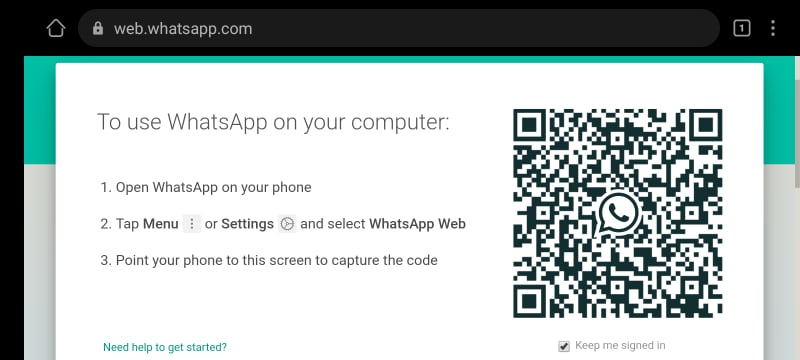 QR Code on Android