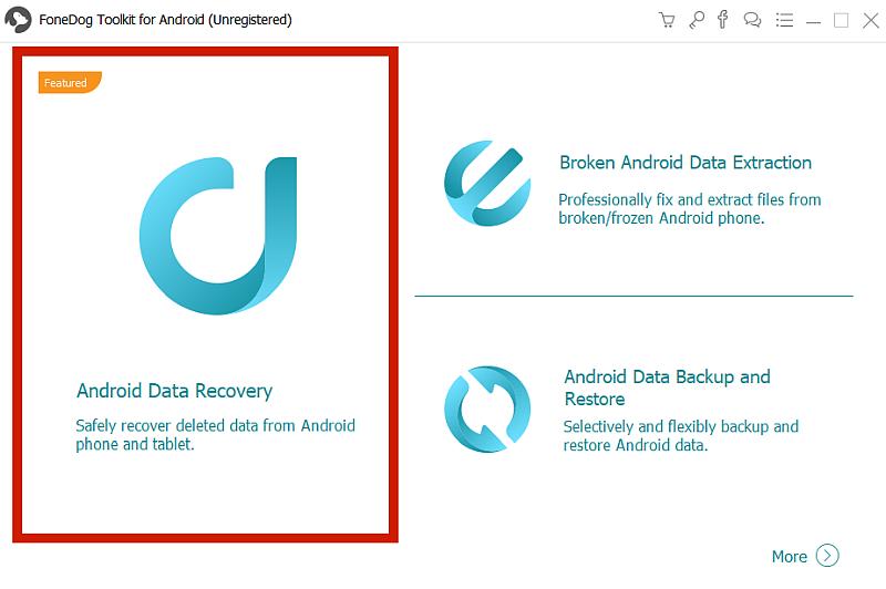 FoneDog Toolkit Dashboard