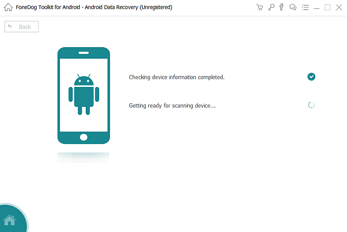 FoneDog Toolkit Scanning Android Device