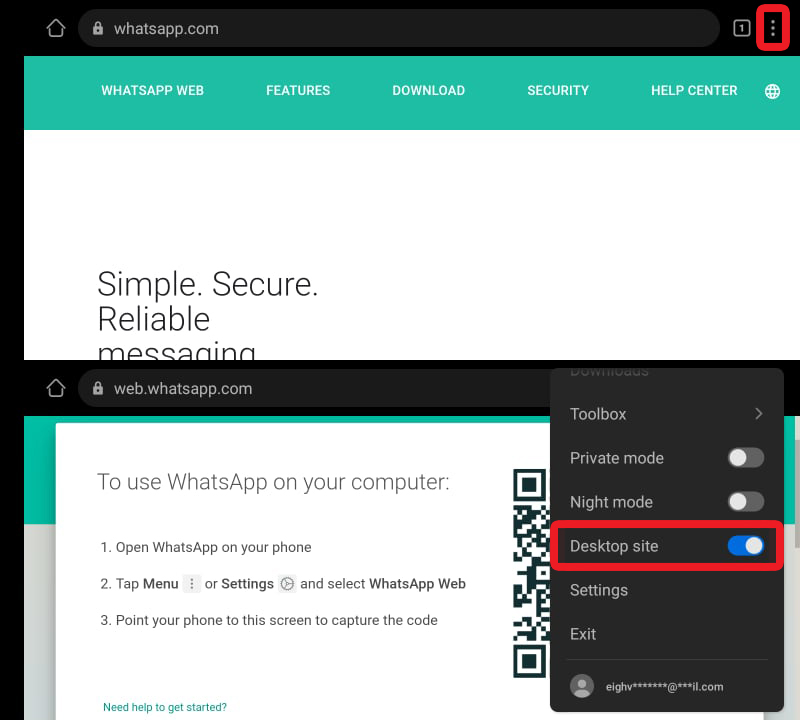 Request Desktop Site for Android