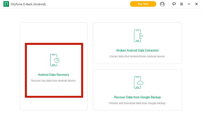 iMyFone D-Back  App Dashboard