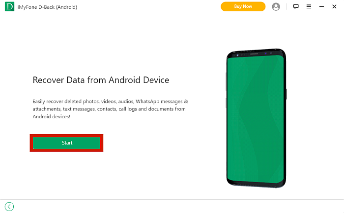 iMyFone D-Back  Data Recovery Tab