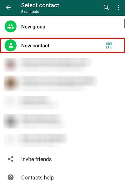 WhatsApp Contact List