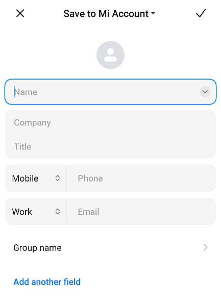 WhatsApp Add New Contact Page