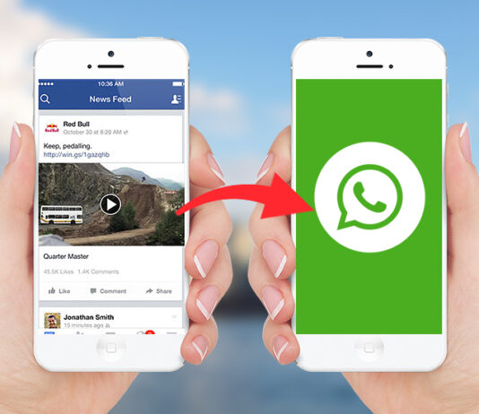 How To Share Facebook Video On WhatsApp Manually