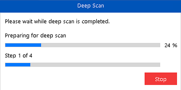 Stellar Data Recovery for Iphone Deep Scan Prompt