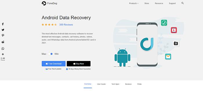 FoneDog Toolkit Homepage