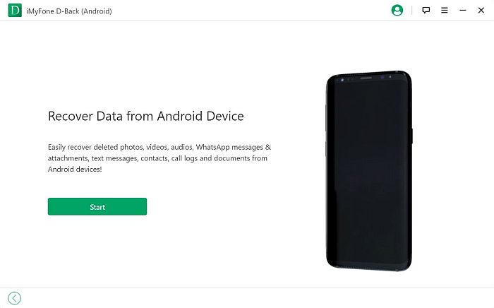 iMyFone D-back Recover Data From Android Device Tab