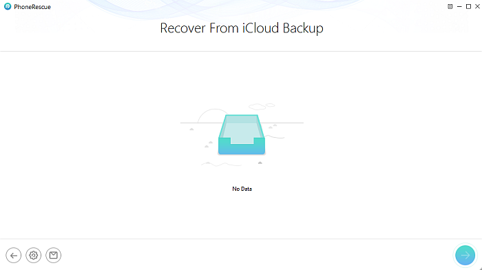 Phone Rescue iCloud Backup File Selection