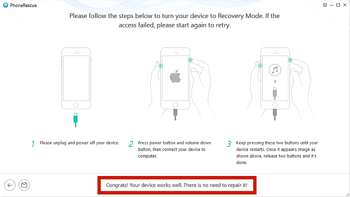 Phone Rescue Recovery mode Instructions for Iphone