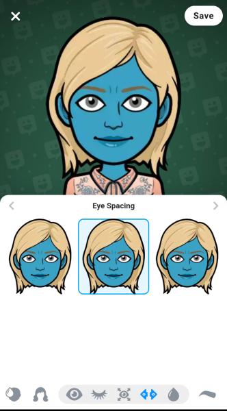 Design your bitmoji avatar using multiple options