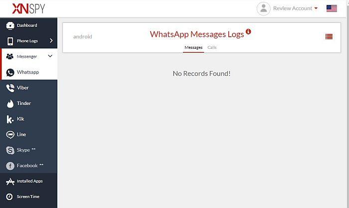 Xnspy WhatsApp Messages Logs
