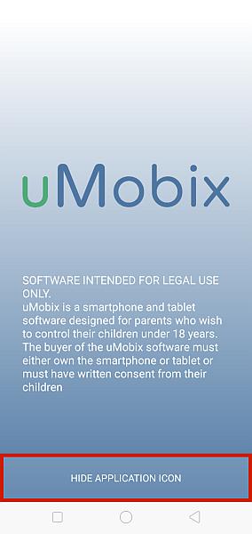 uMobix home screen