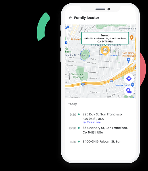 Qustodio location monitoring feature