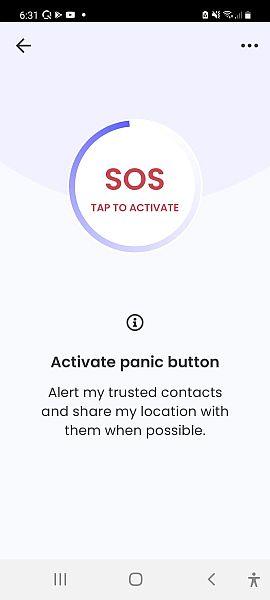 Qustodio panic button feature