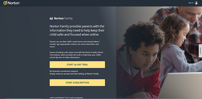 Norton Family home page