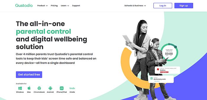 Qustodio homepage