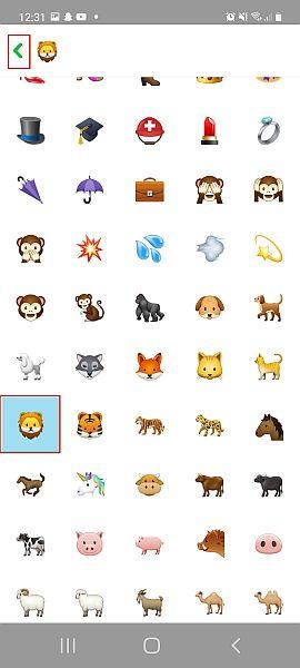 Snapchat emojis list