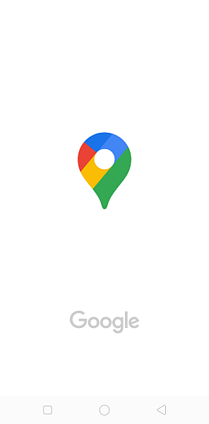 Google maps welcome screen on mobile