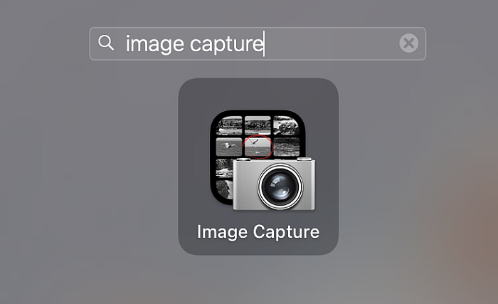 Image capture icon as seen in Mac search results