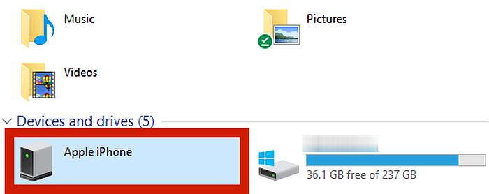 Screenshot of file explorer in pc