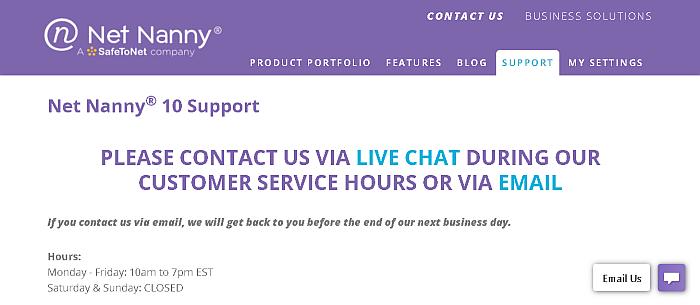 Net nanny customer support
