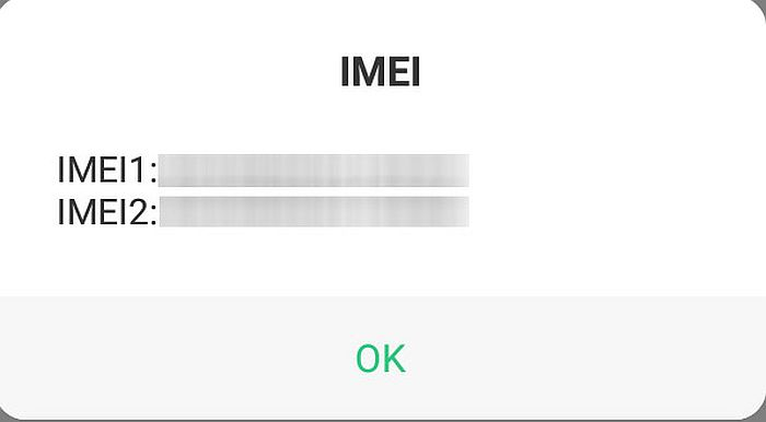 Pop up response from uusd request for showing the imei